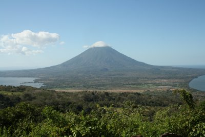 View of the volcano we did not climb