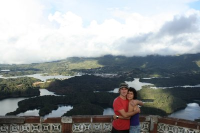 Us and the cool landscape of El Peñol