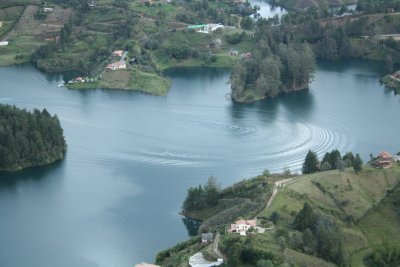 View of one of the lakes, El Peñol, Medellín