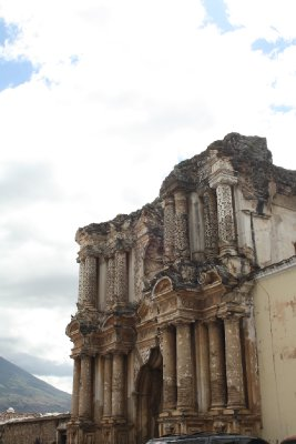 Old Roman styled temple in Antigua