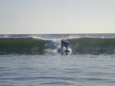 Unfortunately this was the best pic I got of Jonny boy...he did catch a lot better waves off camera...go Jonny go, go