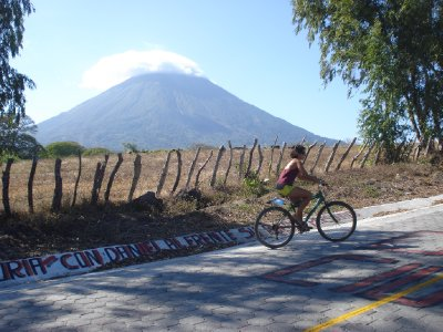 Cycling around Isla Omepete...volcano view is guaranteed pretty much whereever you are