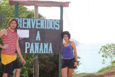 Up on a hill: Migration office to enter Panama. Luckily we cut Henrik's hair the next day