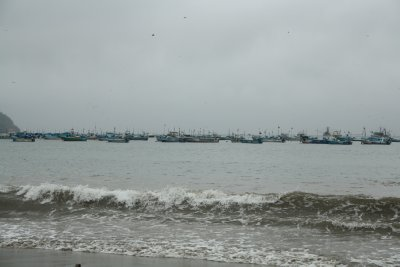 The blue fishing boats of Puerto Lopez