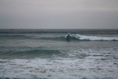 Waves were amazing on the day we were leaving...oh and this is not me surfing