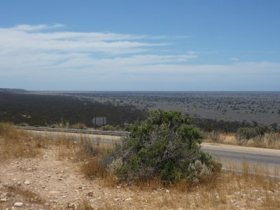 view of the Nullarbor from the escarpment