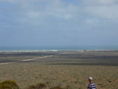 view from our caravan park at Eucla - Great Australian Bight