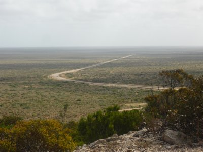 overlooking the Eyre Highway
