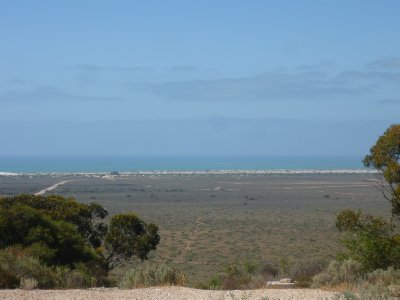 view from caravan park at Eucla