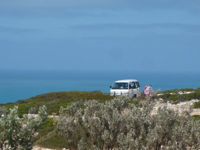 free camping with beautiful view of Great Aust Bight