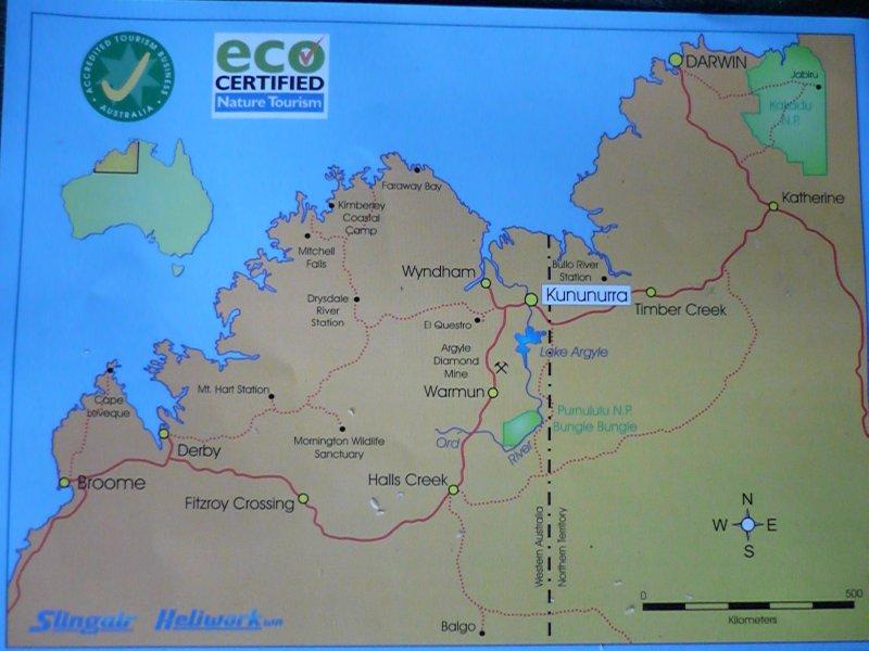 Darwin to Broome map