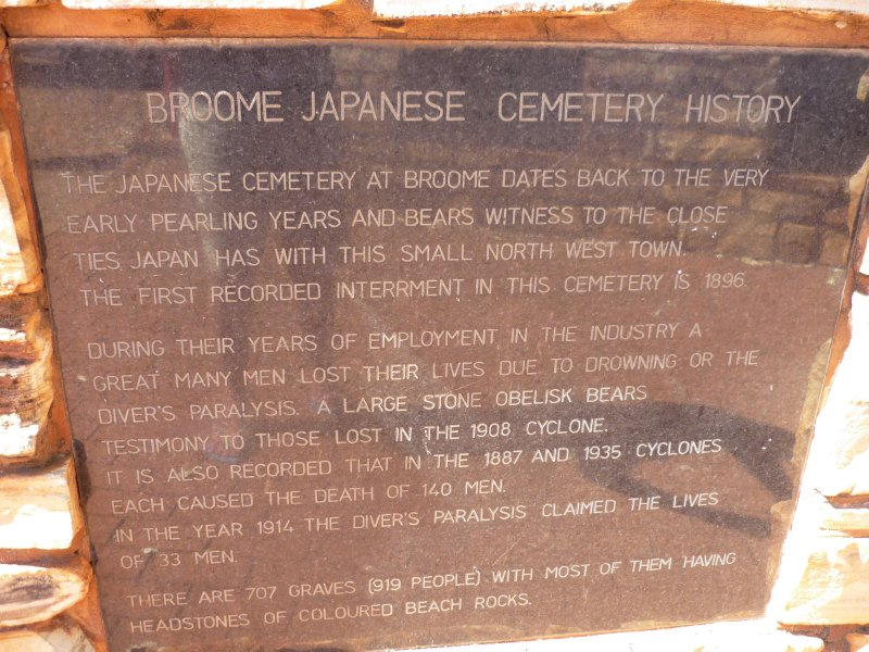 Japanese cemetery - pearl divers