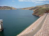 the dam wall and lake Argyle