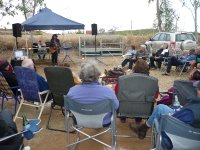 country music singer at firepit