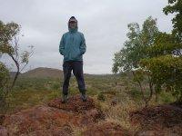 conquering a rocky mound!