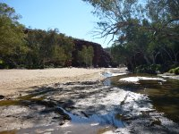 a dryish river bed at Trephina Gorge