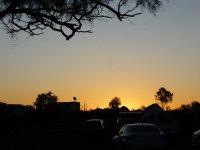 sunset at Glen Helen resort