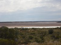 a salt lake en route to Uluru