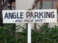parking sign at Daly Waters pub