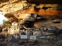 the ochres and the rock formations