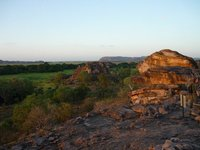 the climb at Ubirr and the view