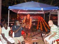 Locals enjoying the didge music