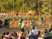 didge player and dancers on Mindil Beach