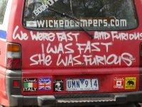 Wicked camper slogan