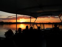 sunset from our boat
