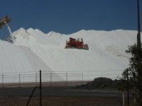 pile of salt at Port Hedland being tidied up for export