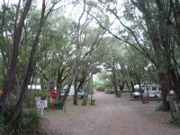 the caravan park at Coalmine Beach