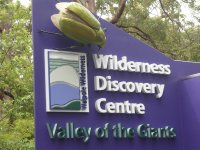 the sign says it all -visiting the forests and particularly the red tingle trees