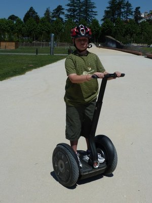terning the segway