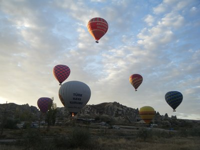 Hot Air Balloon at Cappodocia, Turkey