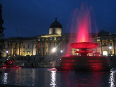 Trafalgar Square at night