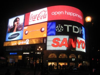 Piccadilly Circus at night