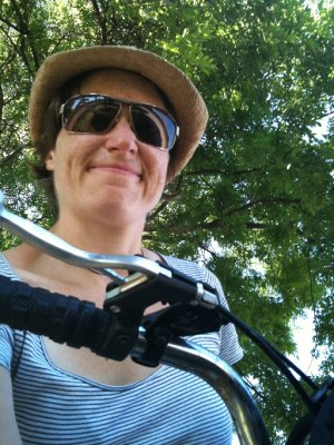 Biking about Lucca