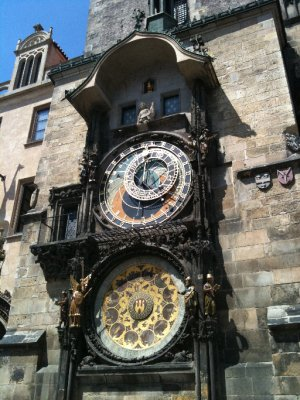 The Astronomical clock in Old Town Square