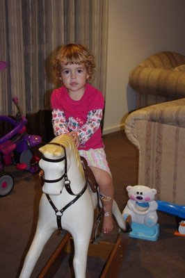 Nadia riding the Melbourne Cup Winner