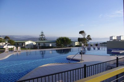 Merimbula Beach Holiday Park - Pool from our Deck