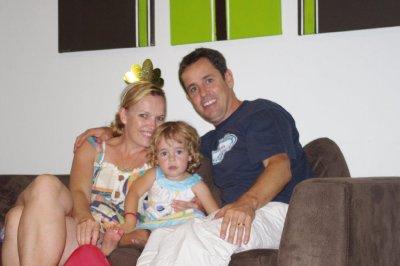 Jane, Nadia and Greg - Nadia's 3rd birthday