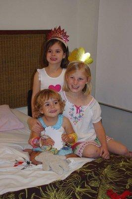 Kate, Claudia and Nadia celebrate Nadia's 3rd birthday