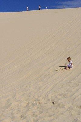 Nadia on the sanddune