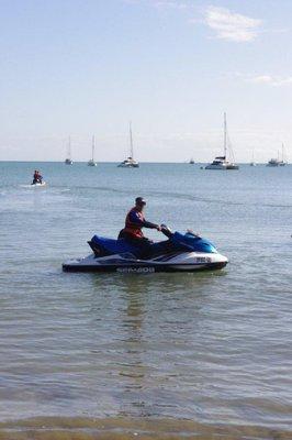 Greg on a jetski
