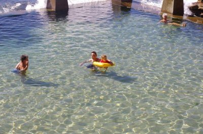 Swimming in the Coogee beach pool