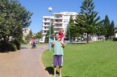 Greg and Nadia out the front of the Coogee View Apartments