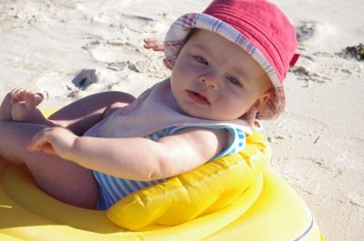 Isaac taking it easy at the beach