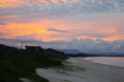 Sunset over Belongil Beach, Byron Bay
