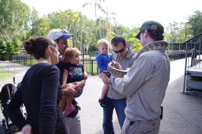 We all meet a python at Australia Zoo