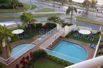 Osprey Apartments pool from our balcony